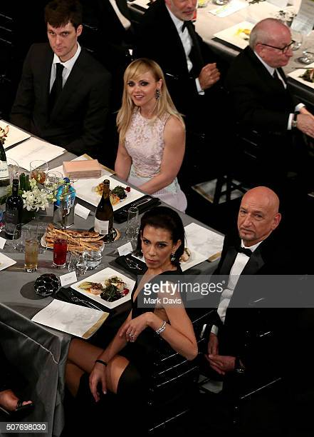James Heerdegen actress Christina Ricci actor Ben Kingsley and Daniela Lavender pose during The 22nd Annual Screen Actors Guild Awards at The Shrine...