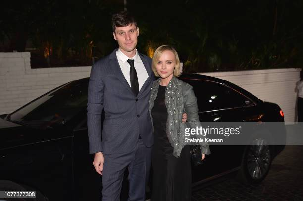 James Heerdegen and Christina Ricci attend Audi Arrivals at W Magazine's Best Performances Party at Chateau Marmont on January 4, 2019 in Los...