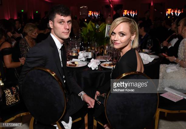 James Heerdegen and Christina Ricci attend the 27th annual Elton John AIDS Foundation Academy Awards Viewing Party sponsored by IMDb and Neuro Drinks...