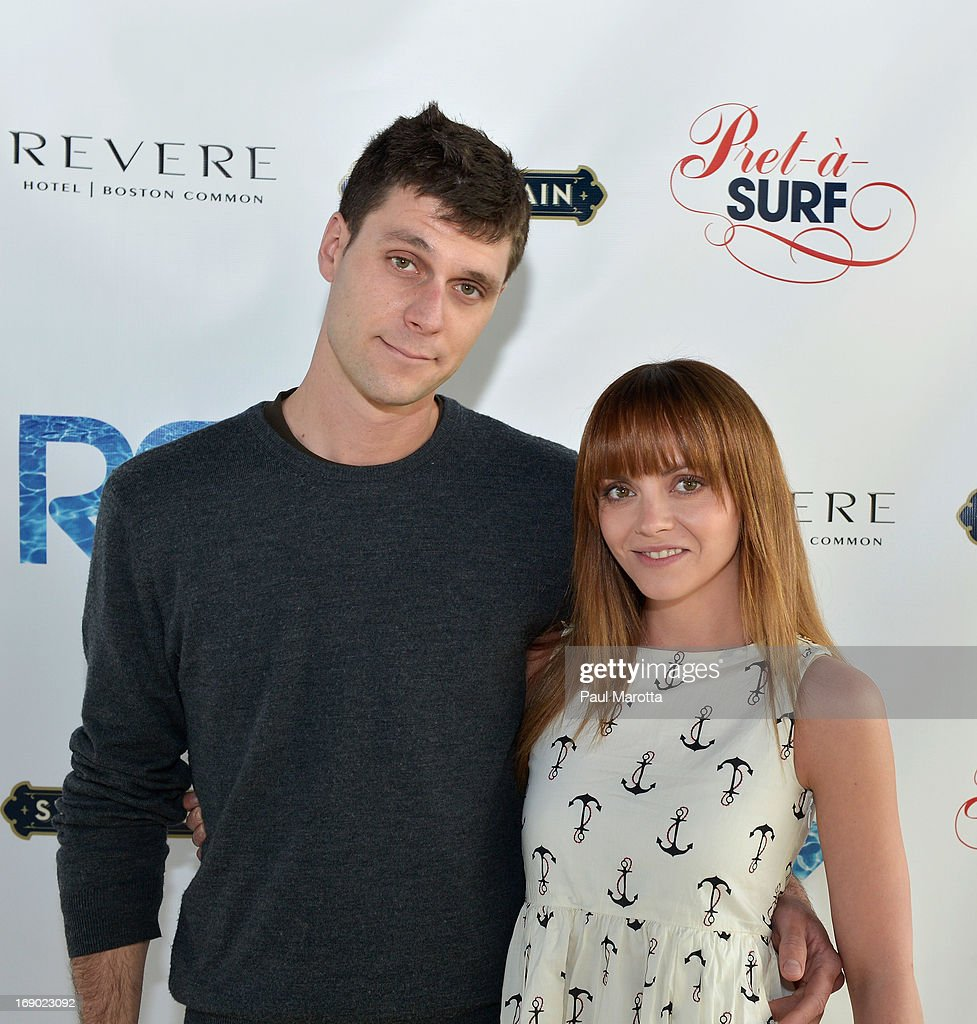 James Heerdegen and Christina Ricci attend the Rooftop @ Revere Launch Party at The Revere Hotel on May 18, 2013 in Boston, Massachusetts.