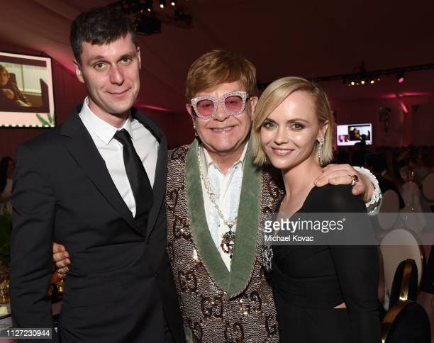 James Heerdegen Sir Elton John and Christina Ricci attend the 27th annual Elton John AIDS Foundation Academy Awards Viewing Party sponsored by IMDb...