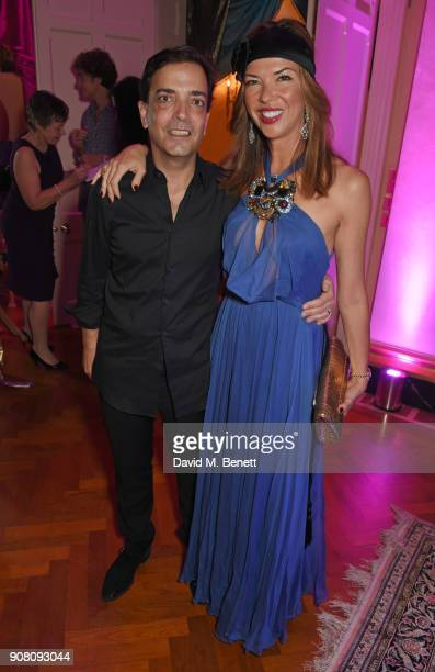 James Henderson and Heather Kerzner attend Lisa Tchenguiz's birthday party on January 20 2018 in London England