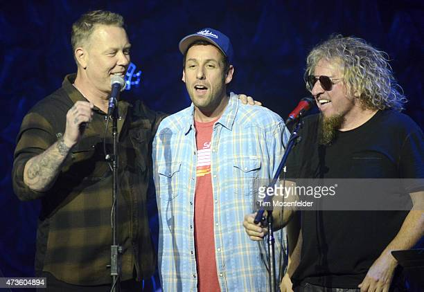 """James Hetfield, Adam Sandler, and Sammy Hagar perform during the 2nd Annual """"Acoustic-4-A-Cure"""" Benefit Concert at The Masonic Auditorium on May 15,..."""