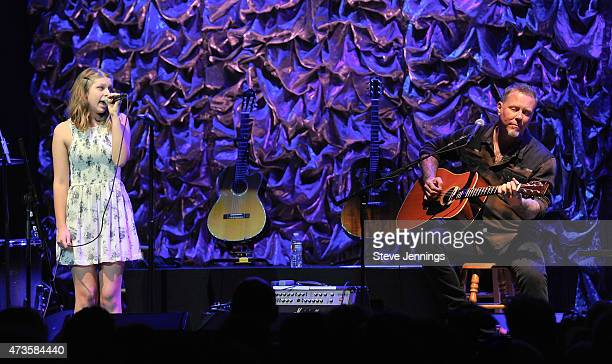 James Hetfield and daughter perform at the 2nd Annual 'Acoustic4ACure' Benefit Concert at The Masonic Auditorium on May 15 2015 in San Francisco...