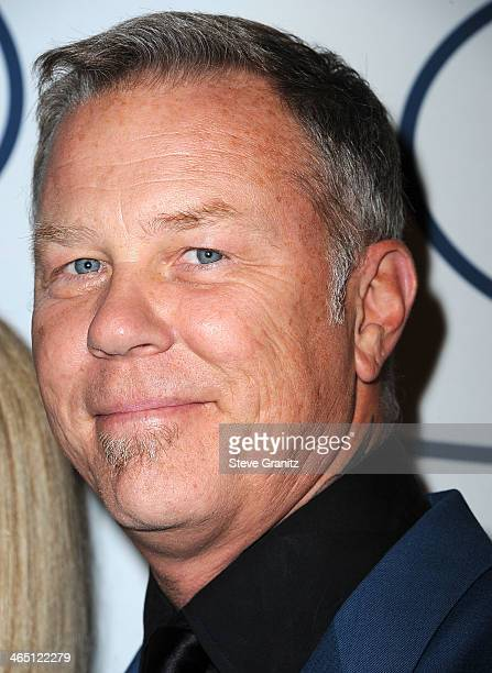 James Hetfield arrives at the Clive Davis And The Recording Academy Annual PreGRAMMY Gala at The Beverly Hilton Hotel on January 25 2014 in Beverly...
