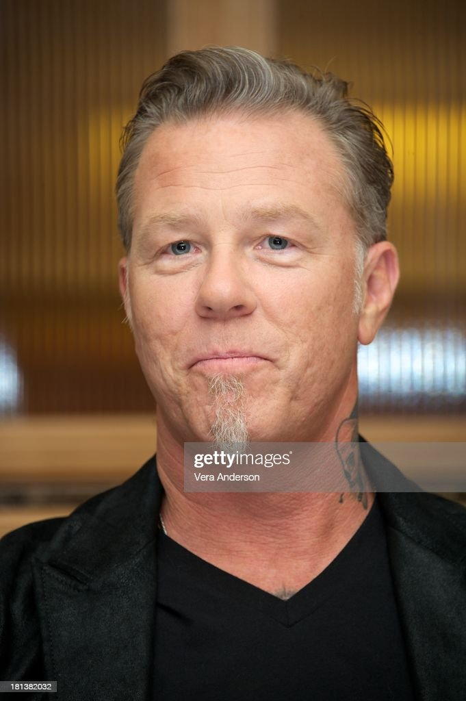 James Hetfield at the 'Metallica: Through The Never' Press Conference at the Fairmont Hotel on September 17, 2013 in San Francisco, California.