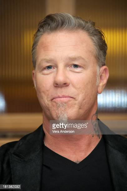 James Hetfield at the Metallica Through The Never Press Conference at the Fairmont Hotel on September 17 2013 in San Francisco California