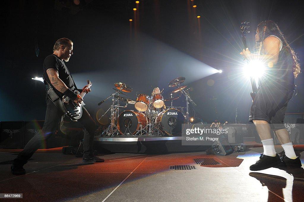 James Hetfield, Lars Ulrich and Robert Trujillo of Metallica