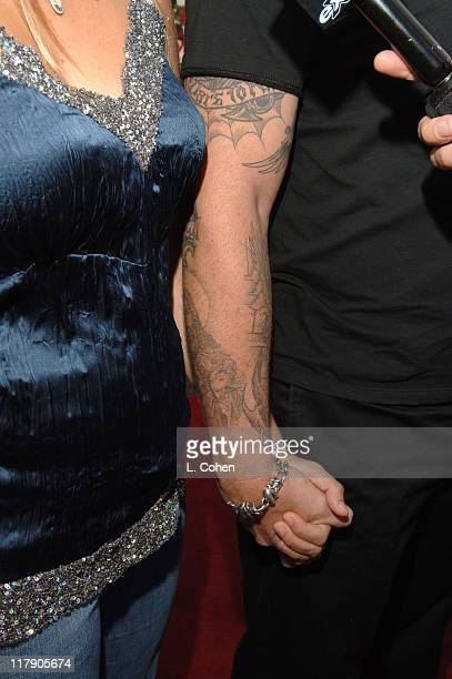 James Hetfield of Metallica and wife Francesca during 2nd Annual MusiCares MAP Fund Benefit Concert Honoring James Hetfield and Bill Silva at Henry...