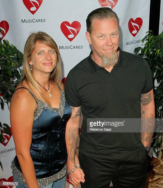 James Hetfield of Metallica and wife Francesca