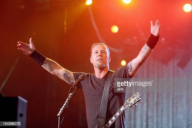 James Hetfield of Metallica during Rock in Rio IV Day 4 at Belavista Park in Lisbon Belavista Park Portugal