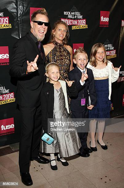 James Hetfield of Metallica Francesca Hetfield and family attend the 24th Annual Rock and Roll Hall of Fame Induction Ceremony at Public Hall on...