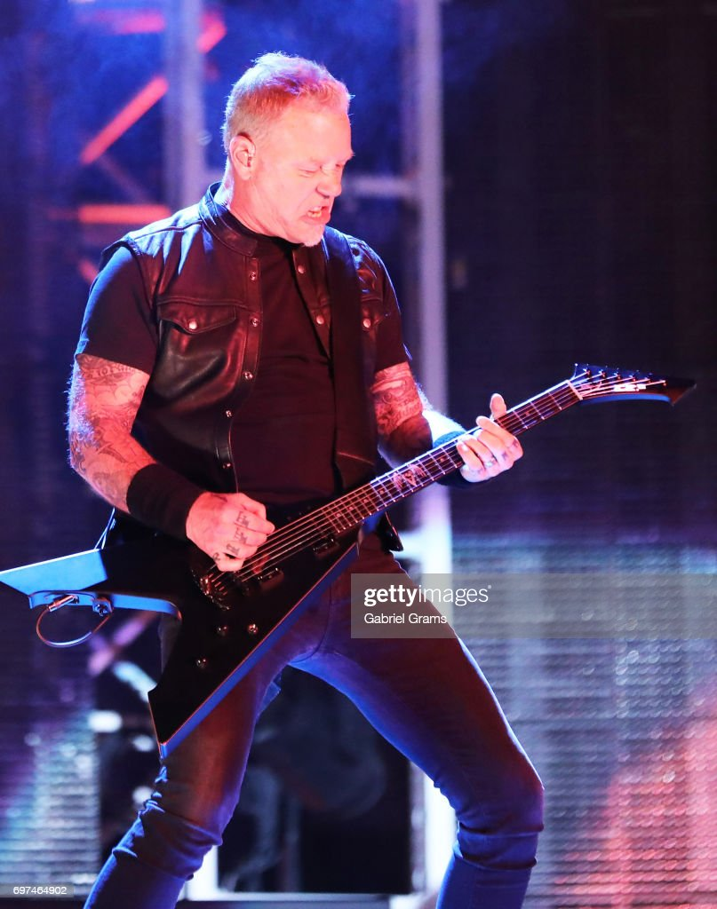 James Hetfield of Metallica performs at Soldier Field on June 18, 2017 in Chicago, Illinois.