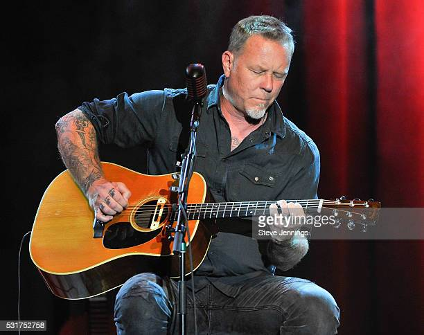 James Hetfield of Metallica performs at the 3rd Annual Acoustic4ACure concert a Benefit for the Pediatric Cancer Program at UCSF Benioff Children's...