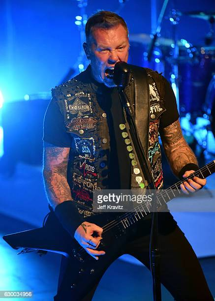 James Hetfield of Metallica performs at The Fonda Theatre on December 15 2016 in Los Angeles California