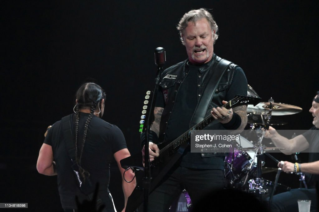 James Hetfield of Metallica performs during a sold out show at KFC