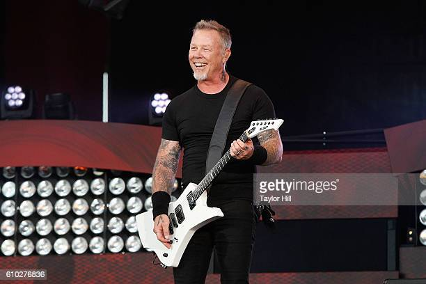 James Hetfield of Metallica performs during the 2016 Global Citizen Festival at Central Park on September 24 2016 in New York City