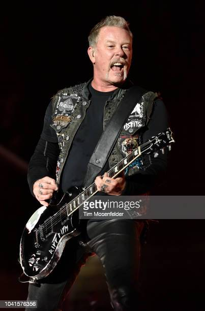 James Hetfield of Metallica performs during the 2018 UCSF Benioff Dreamfest benefit at Civic Center Plaza on September 26 2018 in San Francisco...