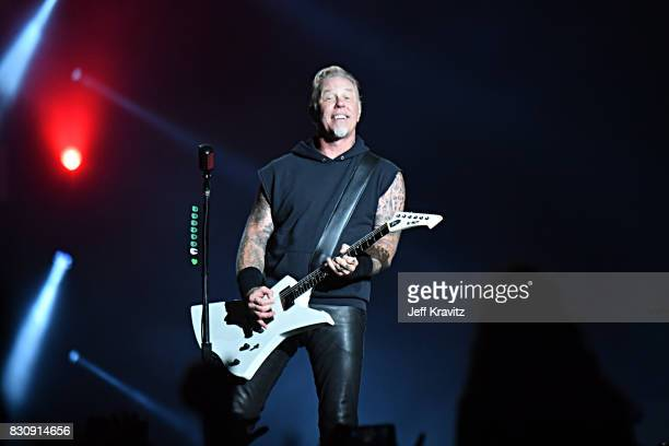 James Hetfield of Metallica performs on Lands End stage during the 2017 Outside Lands Music And Arts Festival at Golden Gate Park on August 12 2017...