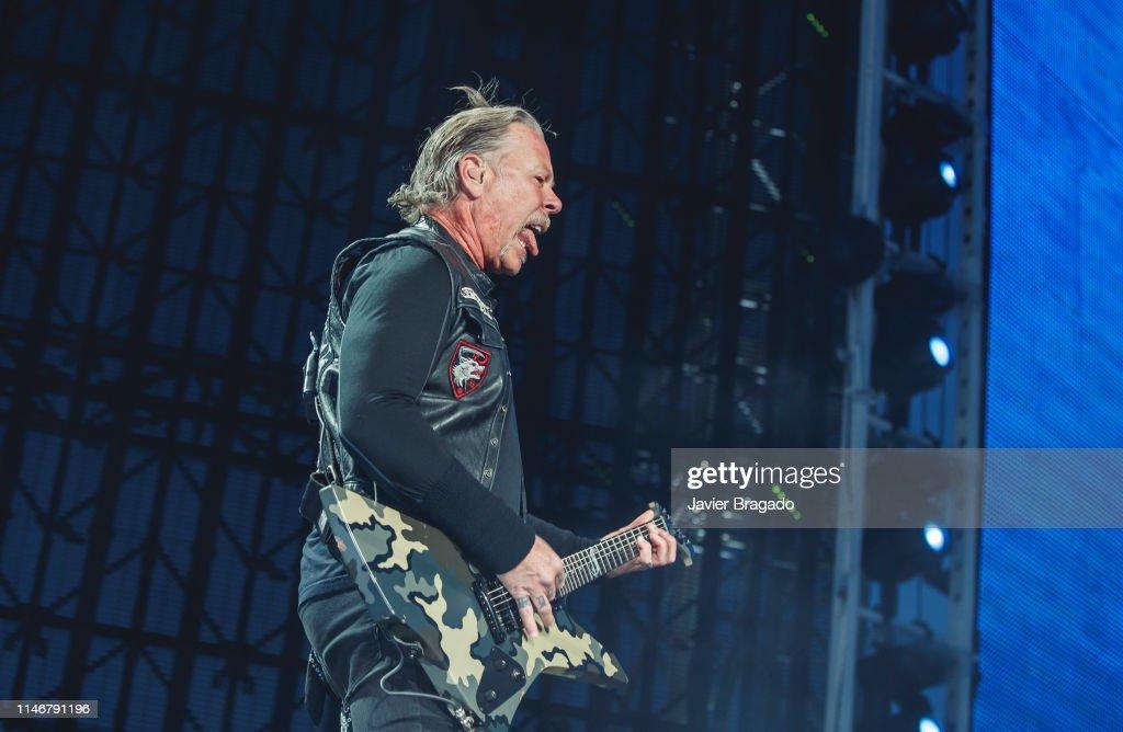 James Hetfield of Metallica performs onstage on May 03, 2019