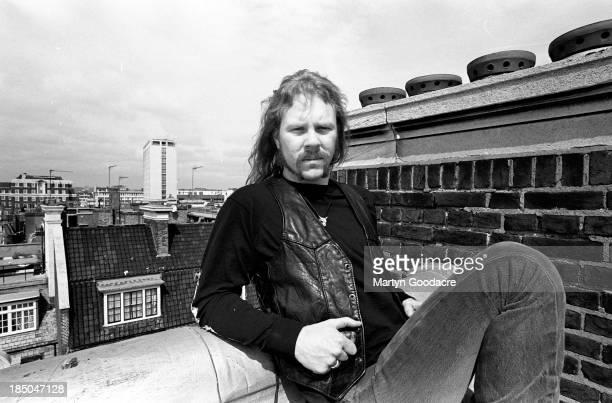 James Hetfield of Metallica portrait London United Kingdom April 1992