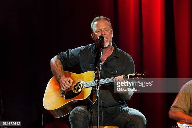 James Hetfield performs at 3rd annual Acoustic4aCure benefit concert at The Fillmore on May 15 2016 in San Francisco California