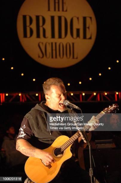 James Hetfield performs with Metallica during the Bridge School Benefit Concert Saturday October 27 at the Shoreline Amphitheatre in Mountain View...
