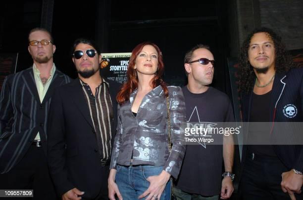 James Hetfield Robert Trujillo Traci Lords Lars Ulrich and Kirk Hammett