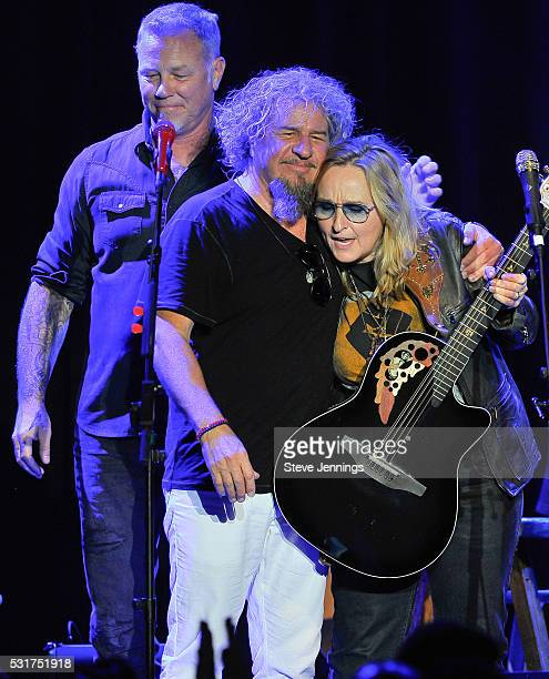James Hetfield Sammy Hagar and Melissa Etheridge perform at the 3rd Annual Acoustic4ACure concert a Benefit for the Pediatric Cancer Program at UCSF...