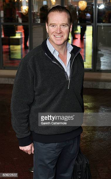 James Hewitt arrives for the Press Launch of the new ITV1 television series Celebrity Wrestling at the Soho Hotel on April 13 2005 in London England...
