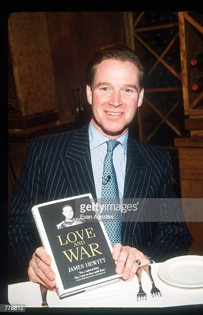James Hewitt presents his book Love and War during an interview with Daphne Barak October 25 1999 in New York City Hewitt former lover of Princess...
