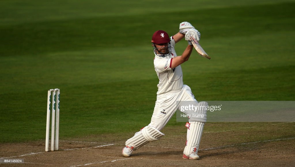 James Hildreth of Somerset bats during Day Two of the Specsavers County Championship Division One match between Somerset and Middlesex at The Cooper Associates County Ground on September 26, 2017 in Taunton, England.