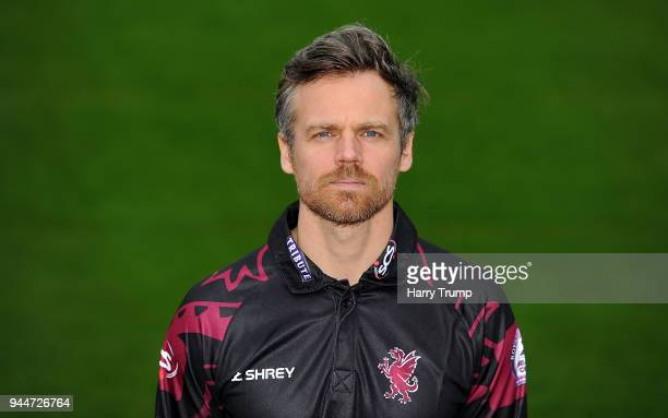 James Hildreth of Somerset CCC during the Somerset CCC Photocall at The Cooper Associates County Ground on April 11 2018 in Taunton England