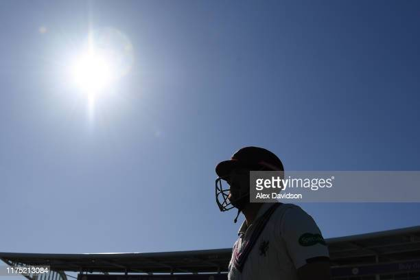 James Hildreth of Somerset walks out to bat during Day Two of The Specsavers Division One County Championship match between Hampshire and Somerset at...