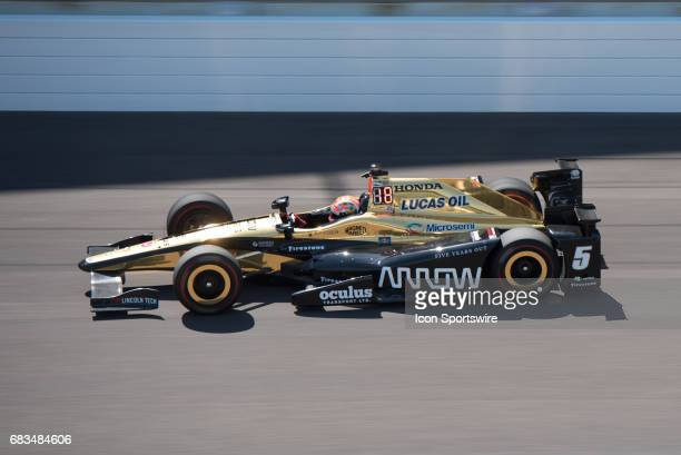 James Hinchcliffe on opening day of practice for the 101st Indianapolis on May 15 at the Indianapolis Motor Speedway in Indianapolis Indiana