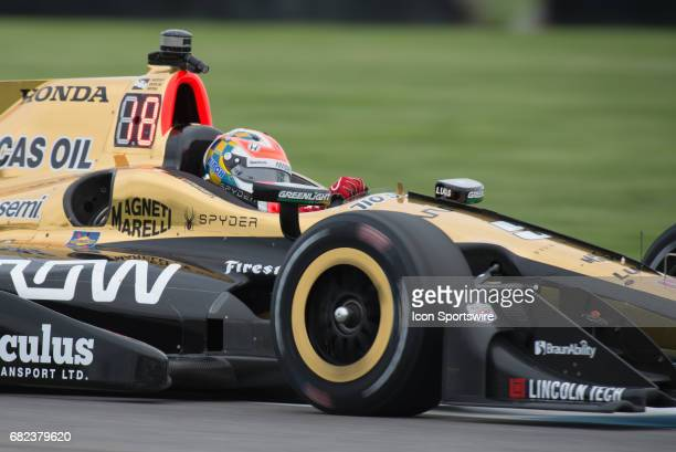 James Hinchcliffe practicing during a practice session for the for the Verizon IndyCar Grand Prix of Indianapolis on May 12 at the Indianapolis Motor...