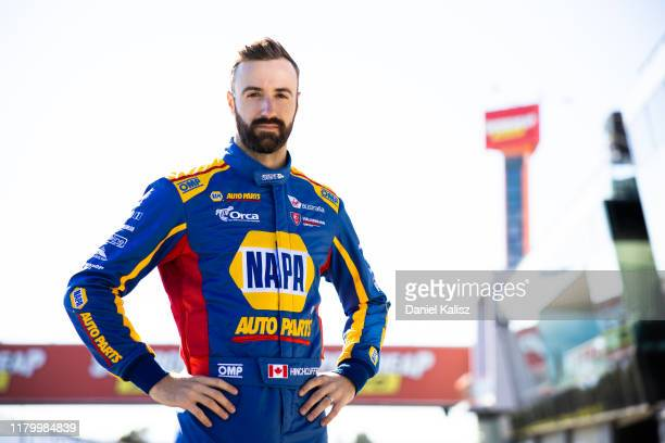 James Hinchliffe driver of the NAPA Auto Parts Walkinshaw Andretti United Holden Commodore ZB poses during previews ahead of the Bathurst 1000 which...