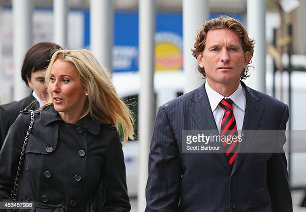 James Hird and his wife Tania arrive at the Federal Court ahead of the case looking into the AFLASADA Investigation into the alleged use of banned...
