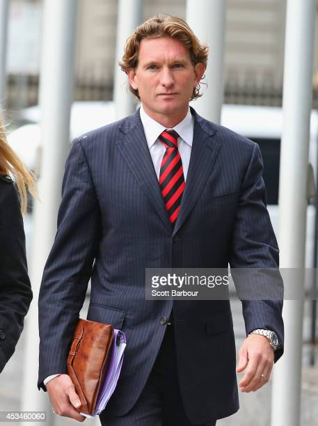 James Hird arrives at the Federal Court ahead of the case looking into the AFLASADA Investigation into the alleged use of banned substances at the...