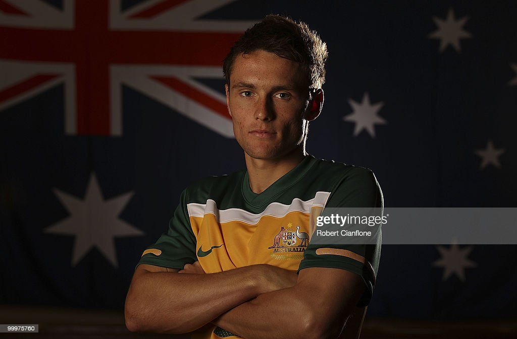 James Holland of Australia poses for a portrait during an Australian Socceroos portrait session at Park Hyatt Hotel on May 19, 2010 in Melbourne, Australia.