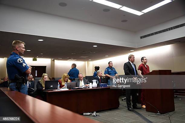 James Holmes appears in court with his attorney Daniel King to be formally sentenced as the prosecution team looks on The formal sentencing concluded...