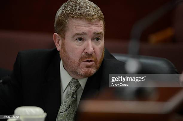 James Holmes defense attorney Daniel King Tuesday morning June 04 2013 at the Arapahoe County Justice Center Holmes is accused of killing 12 people...