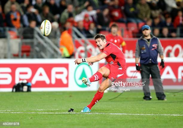 James Hook of Wales converts the try during the Incoming Tour match between EP Kings and Wales at Nelson Mandela Bay Stadium on June 10, 2014 in Port...