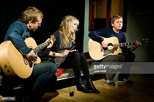 James Hornsey Mel Draisey and Alasdair MacClean of The Clientele perform an acoustic set during Day 3 of Tanned Tin Festival 2010 at Teatro Principal...