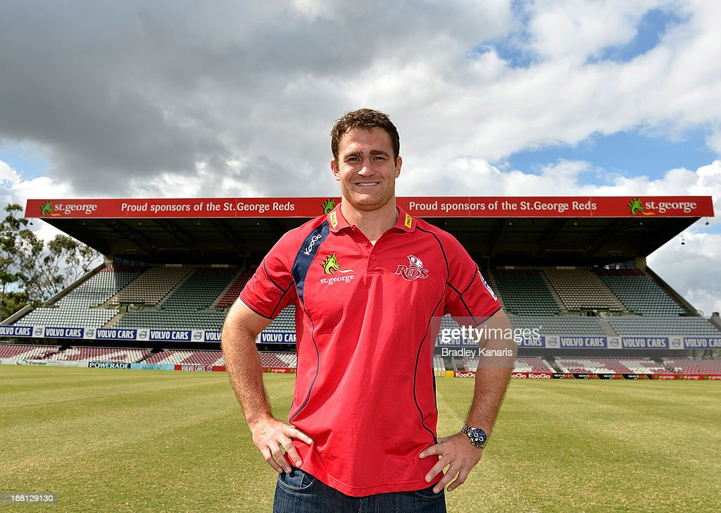 James Horwill poses for a photo after announcing he will be extending his contract for a further two years during a Queensland Reds Super Rugby media announcement at Ballymore Stadium on May 6, 2013 in Brisbane, Australia.
