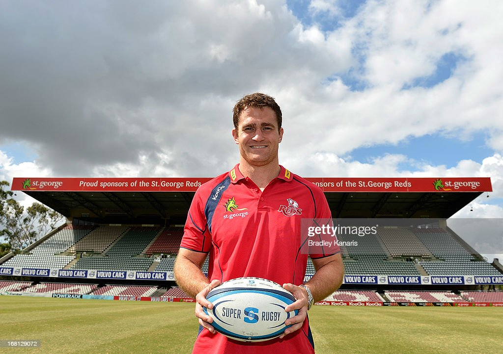 James Horwill poses for a photo after announcing he will extend his contract for a further two years during a Queensland Reds Super Rugby media announcement at Ballymore Stadium on May 6, 2013 in Brisbane, Australia.
