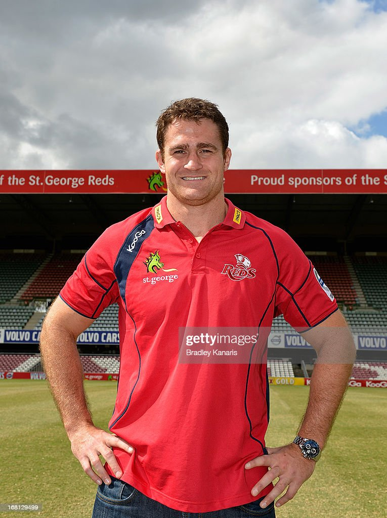 James Horwill poses for a photo after announcing that he will extend his contract for a further two years during a Queensland Reds Super Rugby media announcement at Ballymore Stadium on May 6, 2013 in Brisbane, Australia.