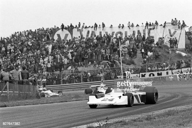 James Hunt, Hesketh-Ford 308B, Grand Prix of Netherlands, Zandvoort, 22 June 1975. James Hunt on his way to his first Grand Prix victory.