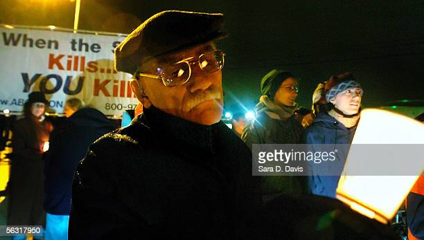 James Hunt joins other death penalty opponents in a vigil outside Central Prison December 1 2005 in Raleigh North Carolina Kenneth Lee Boyd convicted...