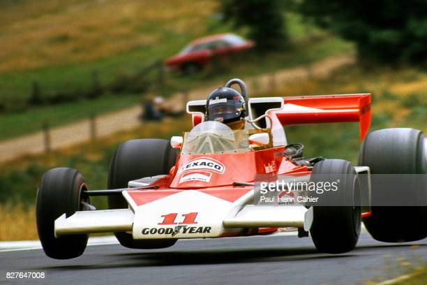 James Hunt, McLaren-Ford M23, Grand Prix of Germany, Nurburgring, 01 August 1976. James Hunt flying his McLaren M23 around the diabolical and...